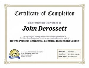 Electrical Inspection Riverside California